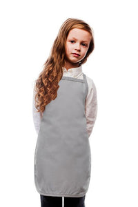 Silver Kids No Pocket Bib Apron