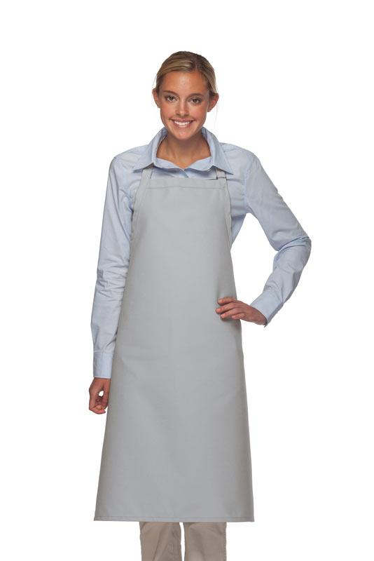 Silver No Pocket Adjustable XL Butcher Apron