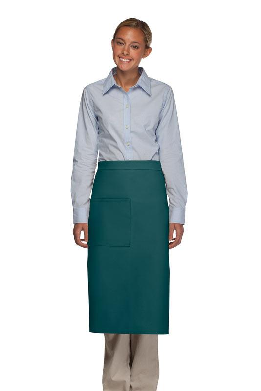 Teal 1 Pocket Full Bistro Apron