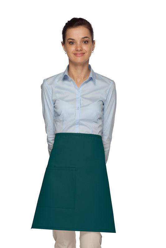 Teal 1 Pocket Half Bistro Apron