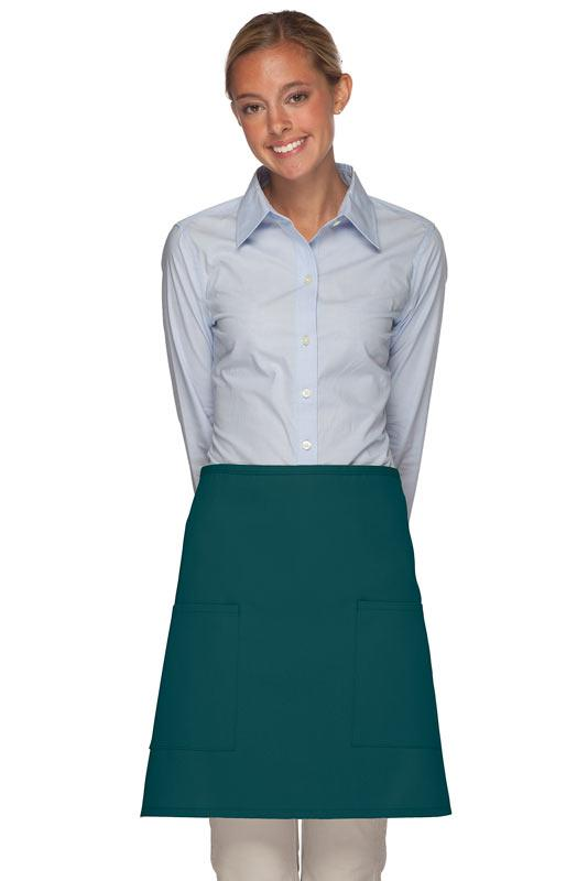 Teal 2 Patch Pocket Half Bistro Apron