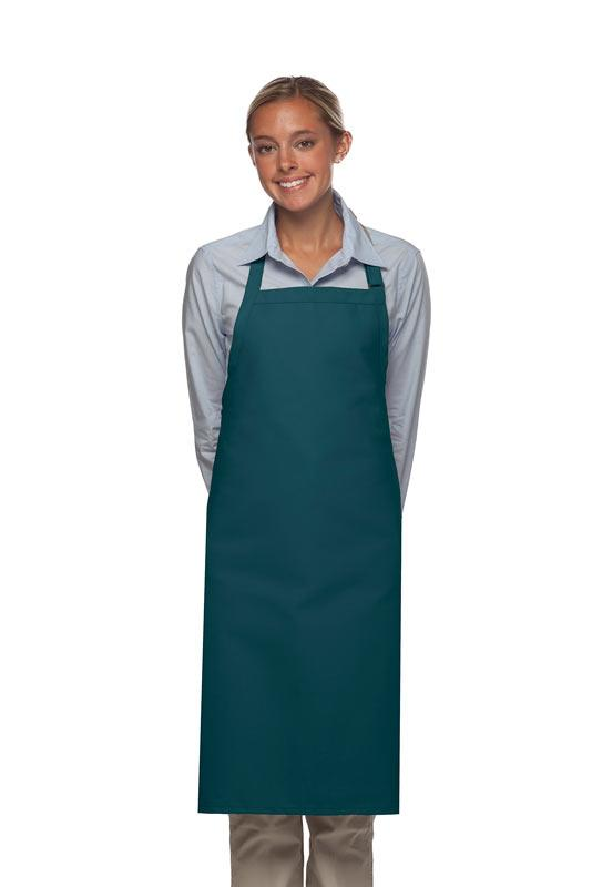 Teal No Pocket Adjustable Butcher Apron
