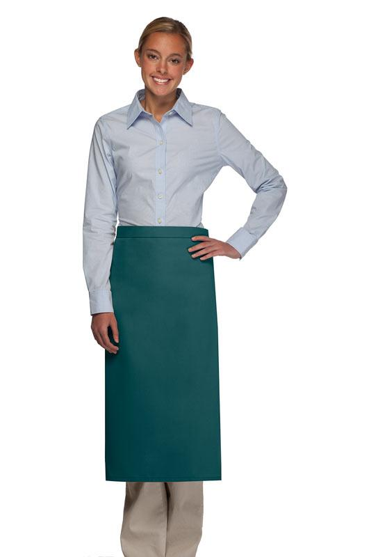 Teal No Pocket Full Bistro Apron