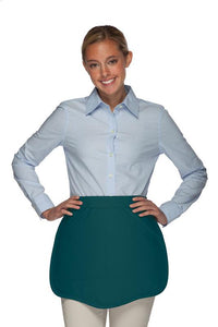 Teal Scalloped Waist Apron