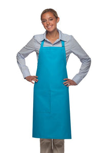 Turquoise 1 Pocket Adjustable Butcher Apron