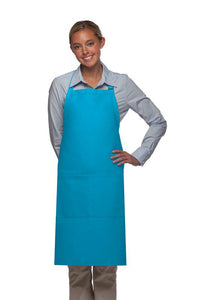 Turquoise 2 Pocket Adjustable Bib Apron