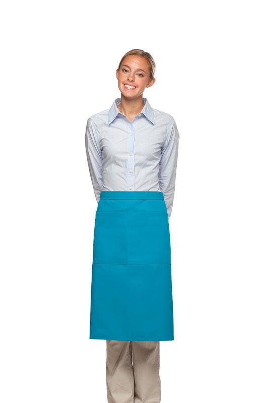 Turquoise 2 Pocket Three Quarter Bistro Apron