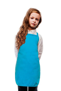 Turquoise Kids No Pocket Bib Apron