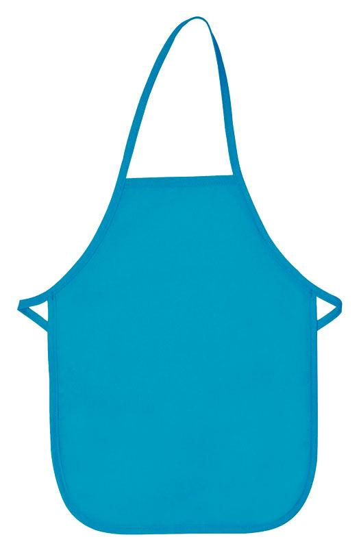 Turquoise Kid's XL Bib Apron (No Pockets)