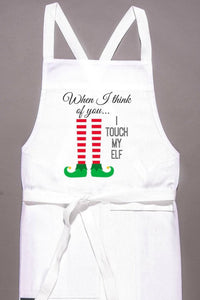 I Touch My Elf Apron
