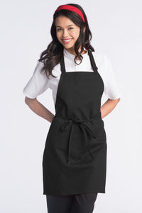 Black Adjustable Bib Apron (No Pockets)
