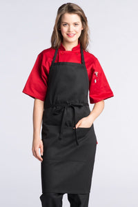 Black Adjustable Butcher Apron (2 Pockets)