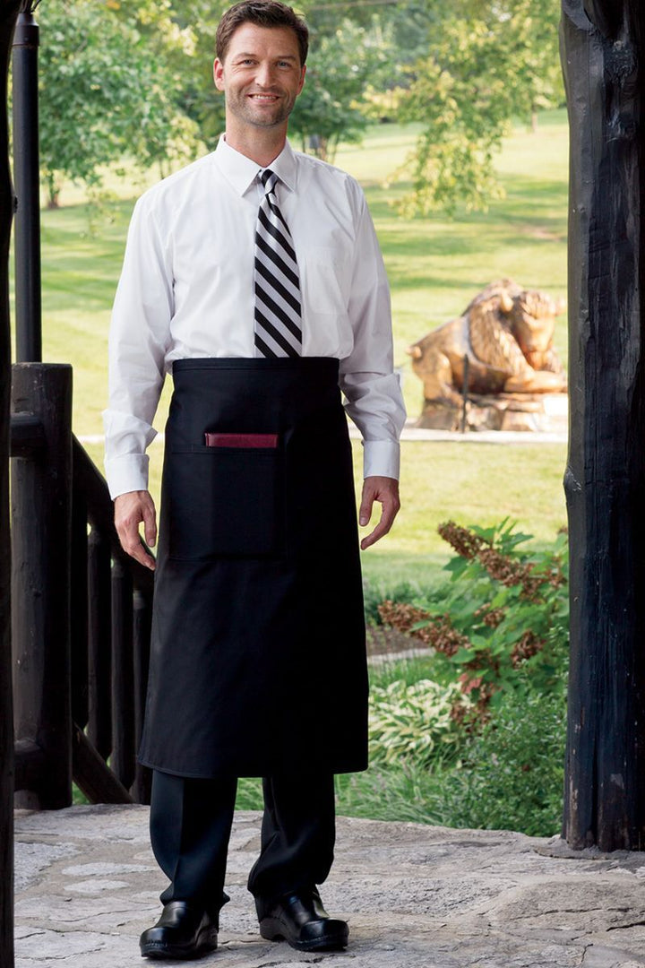 Black Full Bistro Apron (1 Pocket)