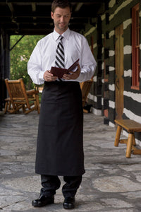 Uncommon Threads Black Full  Bistro Apron (1 Inset Pocket)