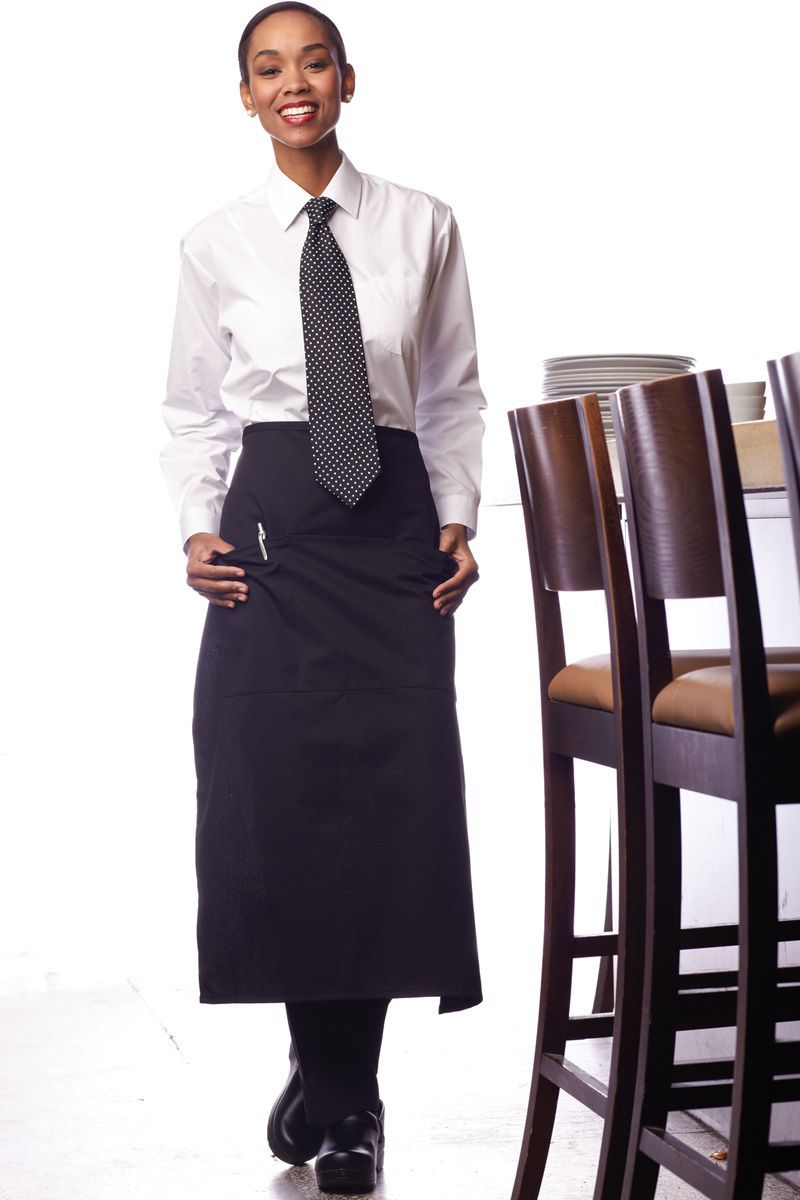Uncommon Threads Black Full Bistro Apron (3 Pockets)