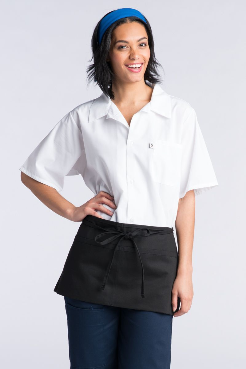 Black Waist Apron (2 Pockets)