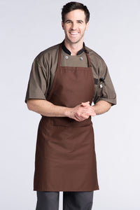 Brown Adjustable Butcher Apron (2 Pockets)