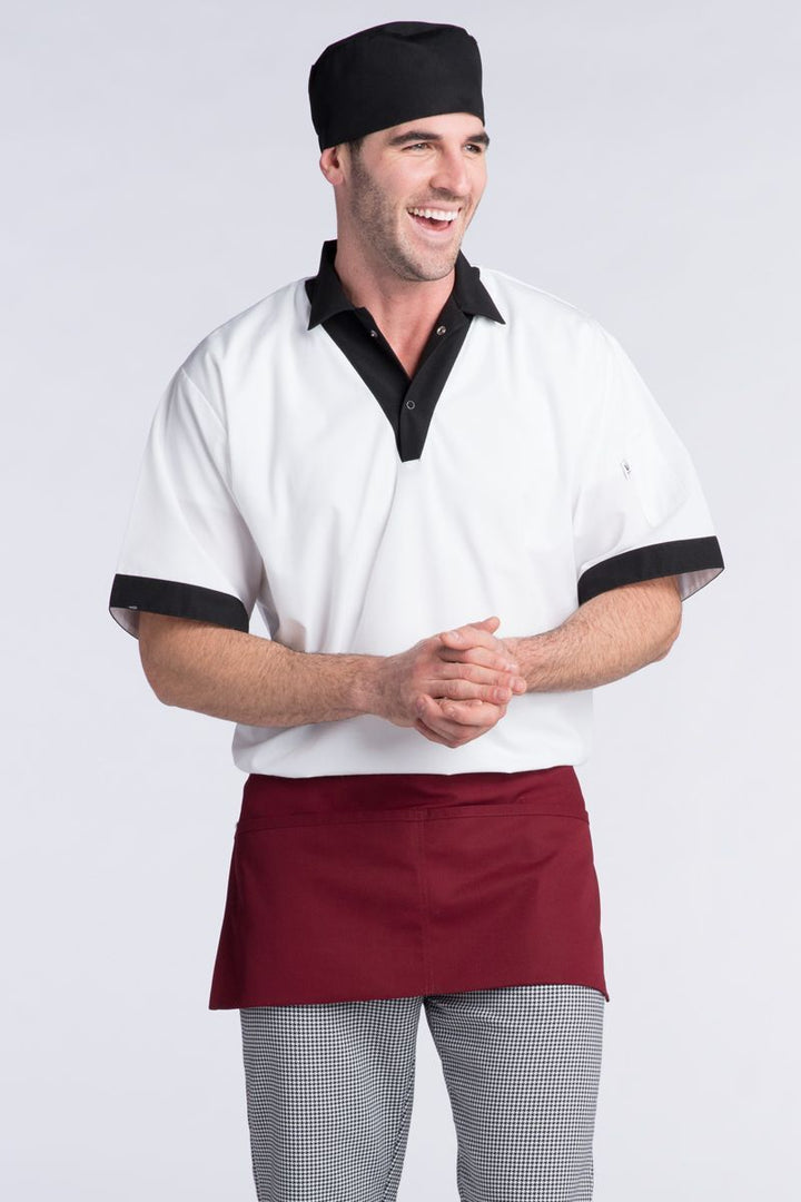Burgundy Waist Apron (2 Pockets)