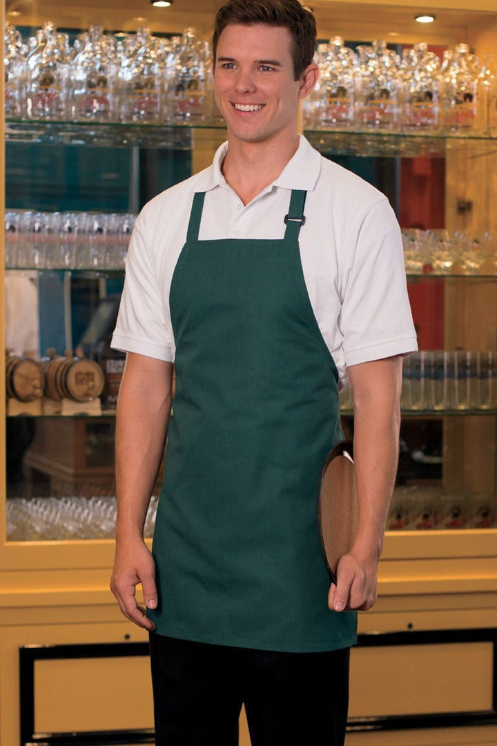 Hunter Green Bib Adjustable Apron (No Pockets)