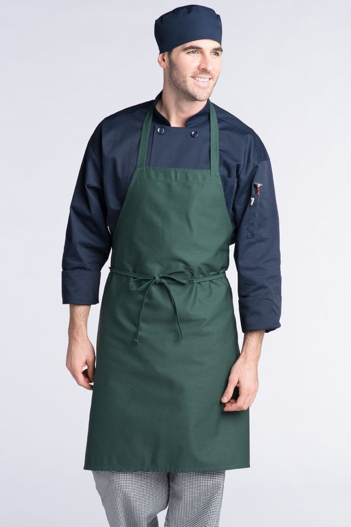 Hunter Green Bib Apron (No Pockets)