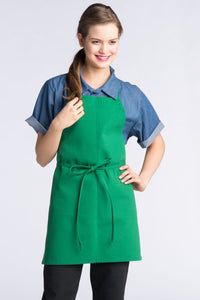 Kelly Green Bib Adjustable Apron (No Pockets)