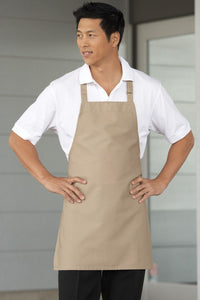 Khaki Bib Adjustable Apron (No Pockets)