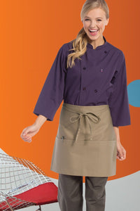Uncommon Threads Khaki 3-Pocket Half Bistro Apron