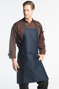 Navy Adjustable Butcher Apron (2 Pockets)