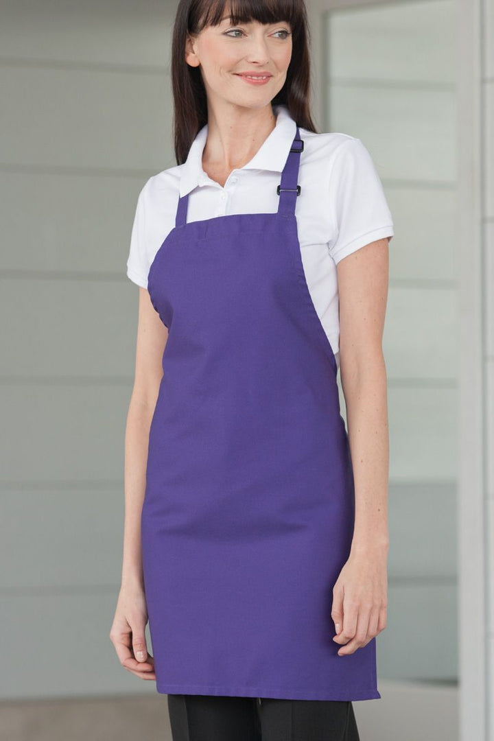 Purple Bib Adjustable Apron (No Pockets)