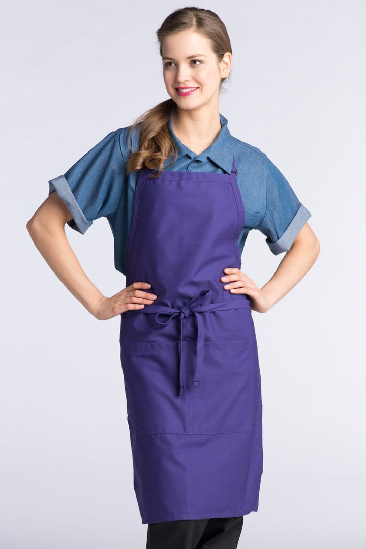 Purple Butcher Adjustable Apron (2 Pockets)