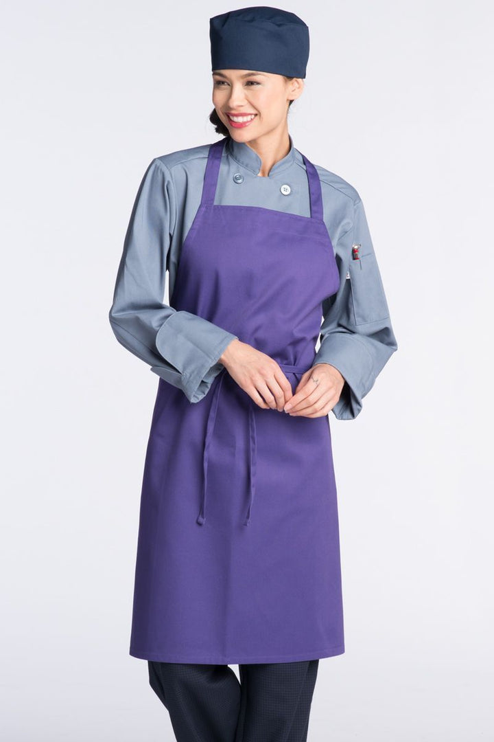 Purple Bib Apron (No Pockets)