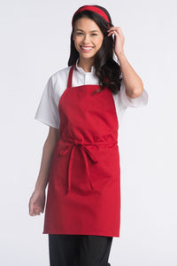 Red Adjustable Bib Apron (No Pockets)