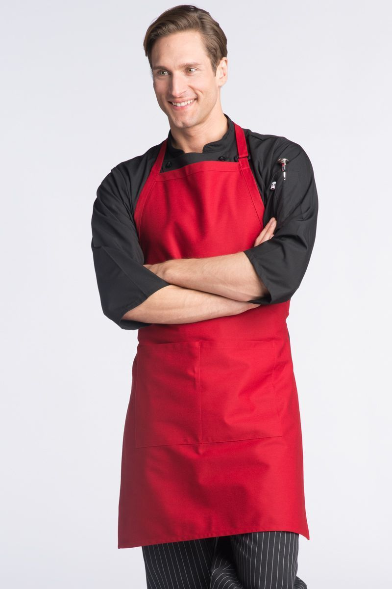 Red Butcher Adjustable Apron (2 Pockets)