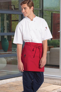 Red Half Bistro Apron (3 Pockets)