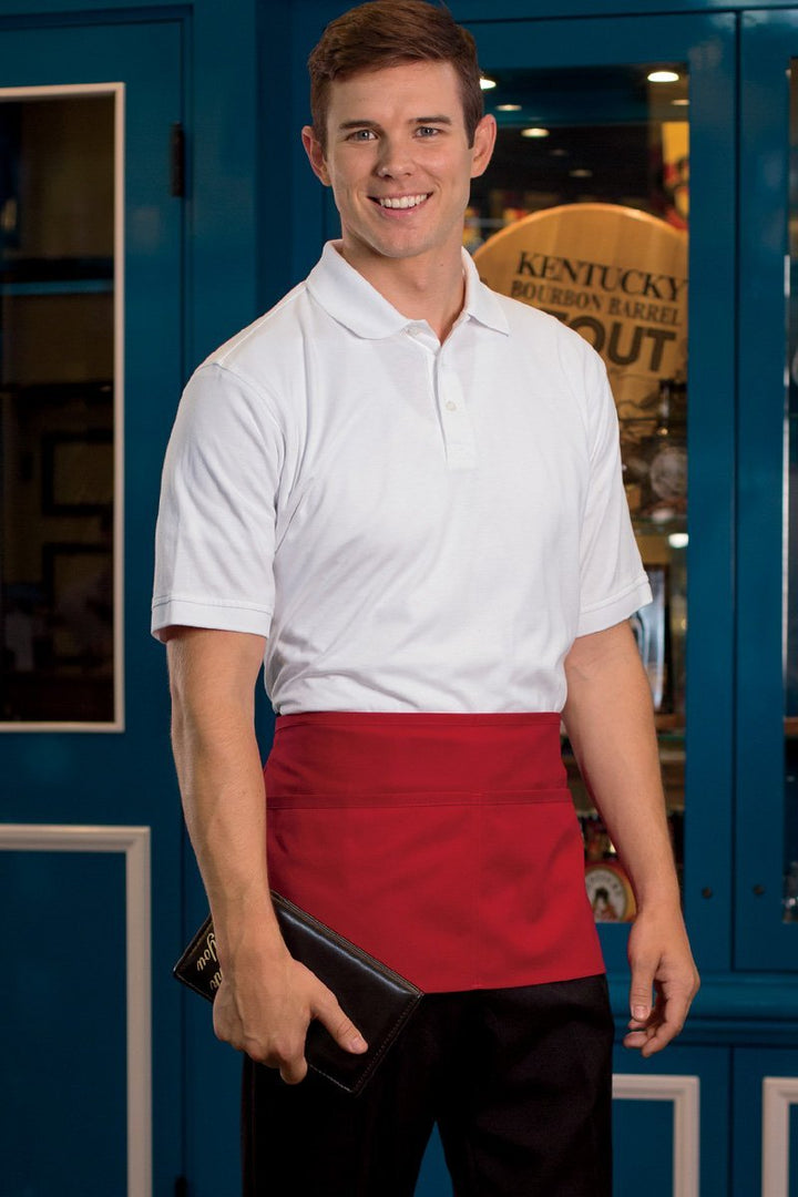 Red Waist Apron (2 Pockets)