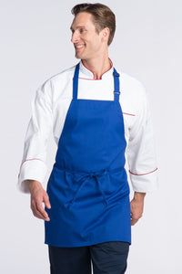 Royal Blue Adjustable Bib Apron (No Pockets)