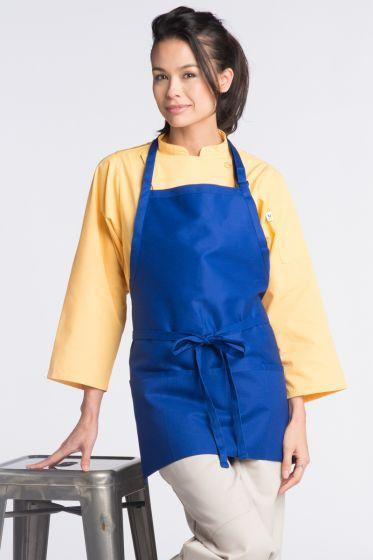 Royal Blue Bib Adjustable Apron (3 Pockets)