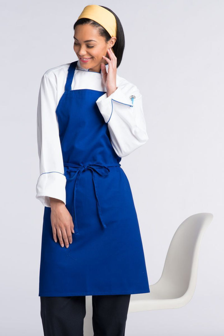 Royal Blue Bib Apron (No Pockets)