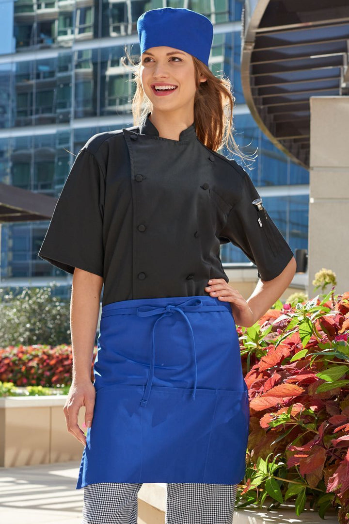 Royal Blue Half Bistro Apron (3 Pockets)