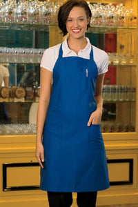 Royal Blue Adjustable Bib Apron (3 Pockets)