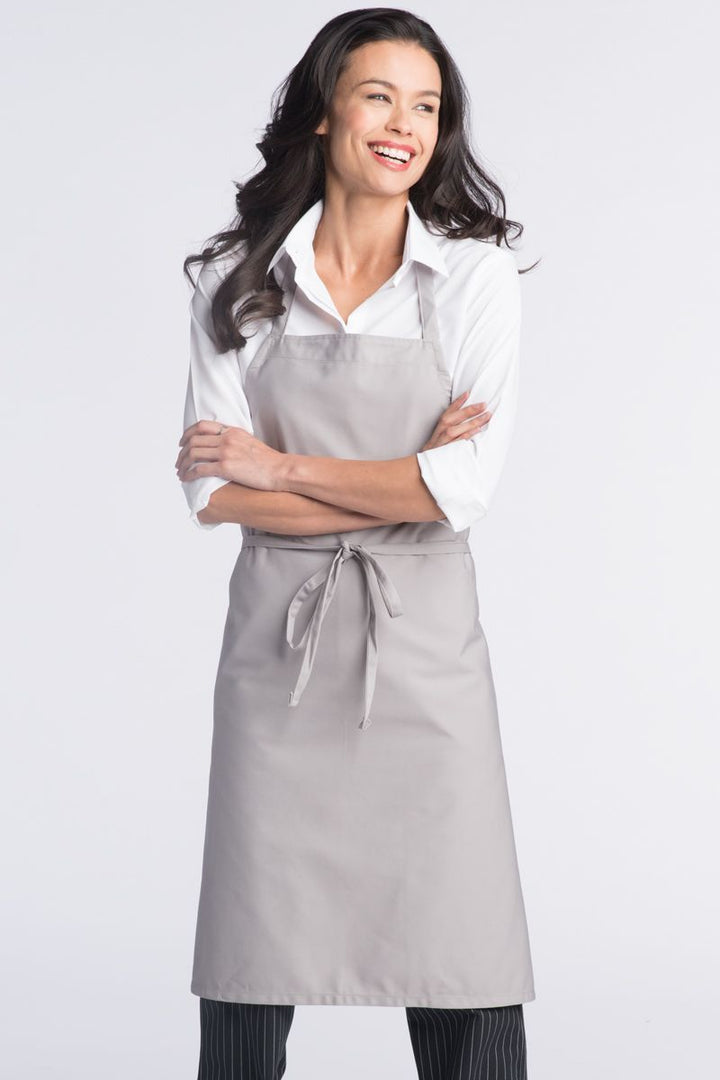 Silver Bib Apron (No Pockets)