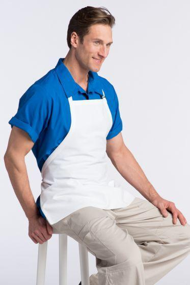 White Bib Adjustable Apron (3 Pockets)