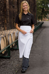 White Bar Apron (No Pockets)