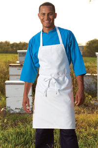 White Bib Apron (No Pockets)