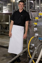White 4-Way Long Apron (No Pockets)
