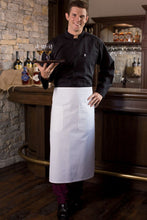 White Full Bistro Apron (2 Patch Pockets)