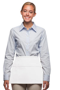 White 3-Pocket Waist Apron