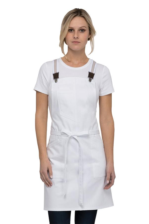 Berkeley Womens White Petite Bib Apron