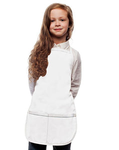 White Kids 2 Pocket Bib Apron