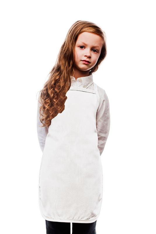 White Kids No Pocket Bib Apron